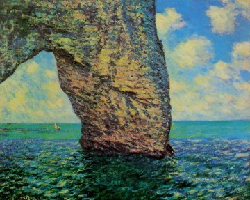 Claude Monet Painting - The Manneport at High Tide Claude Monet